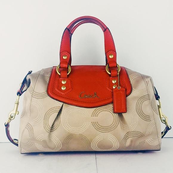 2e7a72db1f1 Coach Handbags - COACH ASHLEY DOTTED OP ART SATCHEL SHOULDER BAG
